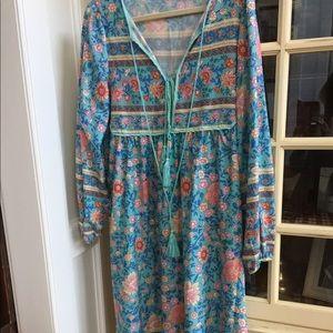 Boho floral dress size large